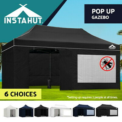 Instahut Aluminium Pop Up Gazebo Outdoor Folding Marquee Tent Canopy Party 3x6m