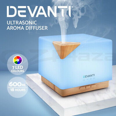 Devanti Ultrasonic Aroma Aromatherapy Diffuser LED Light Oil Humidifier Purifier