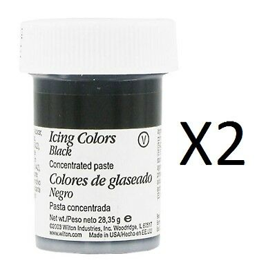 Wilton Icing Colors - Black Concentrated Paste 1 oz. Jar (2-Pack)