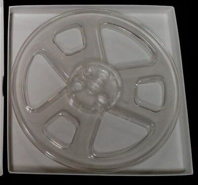 new old stock clear plastic 7 1/4 tape reels in boxes