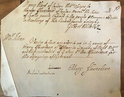 Mary Flowerdewe Legal Document Assigns to Thomas Flowerdewe Circa 1700