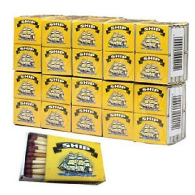 100 x Boxes Of Ship Safety Matches Candles Camping Cooking 32 Per Box