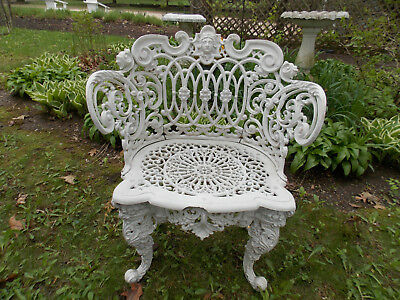 (RARE) Antique/Vtg Wrought Iron VERY Decorative (Betsy Ross) Garden/Lawn Chair