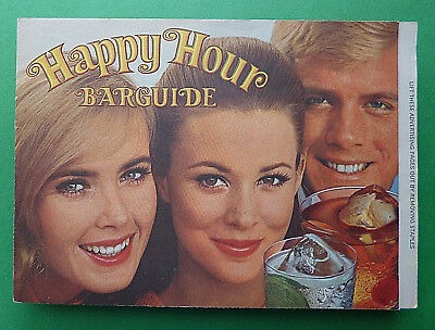 1969 Booklet ''Happy Hour Bar Guide'' by Southern Comfort Corporation