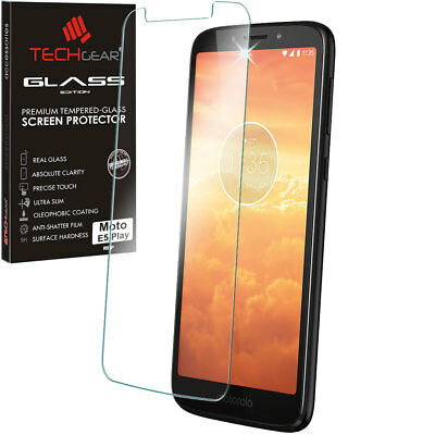 Genuine TECHGEAR TEMPERED GLASS Screen Protector for UK Motorola Moto E5 Play