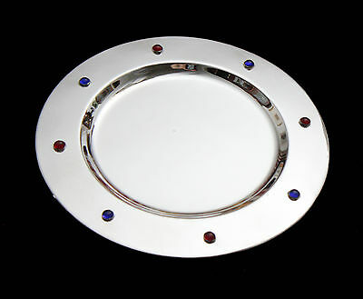 French Art Deco Silver Plated Presentation Plate (Charger) - Several Available