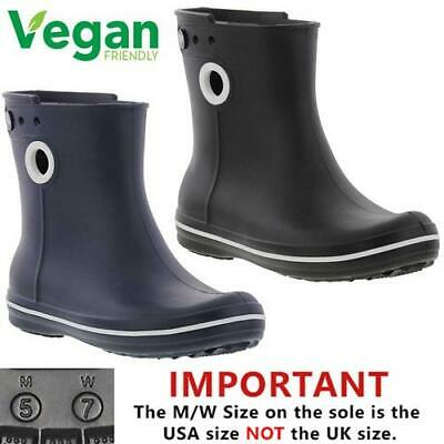 be3c2f8082e8dd Crocs Jaunt Shorty Wellies Womens Ladies Vegan Wellington Ankle Boots Sizes  4-8