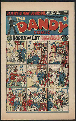 Dandy Comic #424, Jan 7Th 1950, Scarce Issue, Smaller Size. Excellent Condition