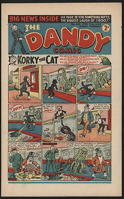 Dandy Comic #429, Feb 11Th 1950, Scarce Issue, Smaller Size. Excellent Condition