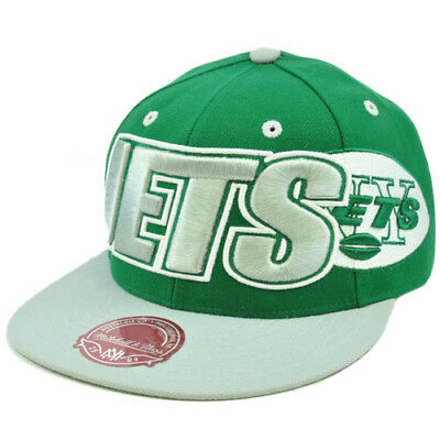 bf95736cc77569 NFL Mitchell Ness Throwback Logo Retro Wordmark Fit Cap Hat TT48 New York  Jets