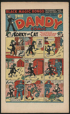 Dandy Comic #430 Feb 18Th 1950, Scarce Issue, Smaller Size. Excellent Condition