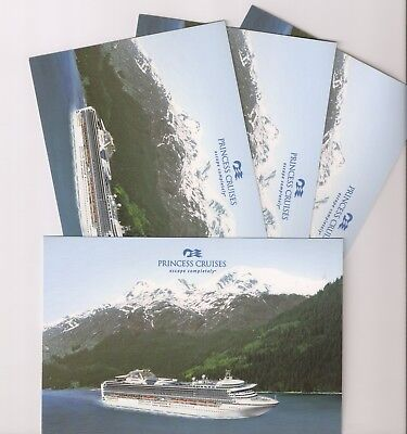 3 New  Princess Cruise Line  Postcards