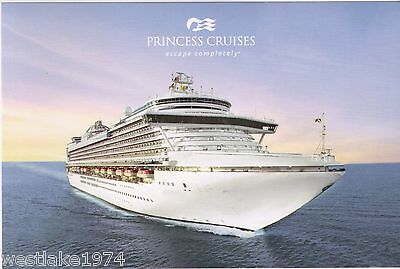3 NEW  CROWN Princess Cruise Line  Logo  Postcards