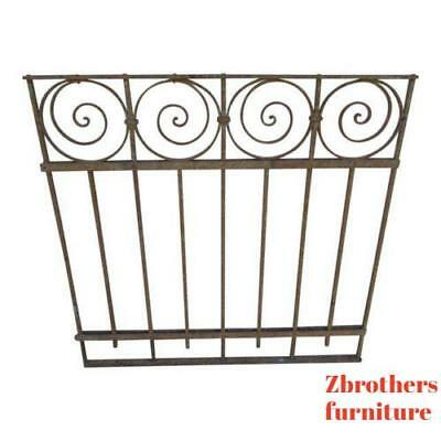 Antique Victorian Iron Gate Window Garden Fence Architectural Salvage Door #06