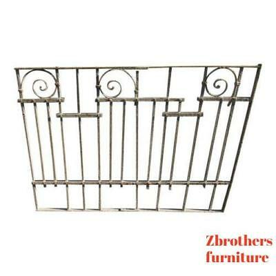 Antique Victorian Iron Gate Window Garden Fence Architectural Salvage Door #024