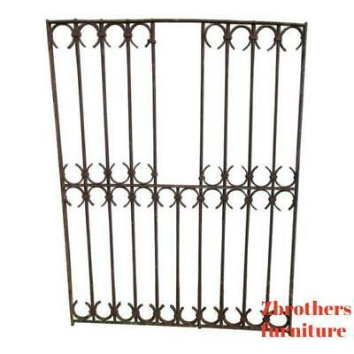 Antique Victorian Iron Gate Window Garden Fence Architectural Salvage Door #678