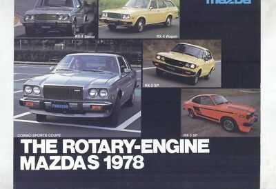 1978 Mazda US Cosmo RX4 Sedan & Wagon RX3 SP Brochure my9189