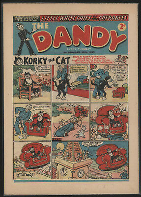Dandy Comic #540, Mar 29Th 1952, Scarce Issue, Really Nice Condition.