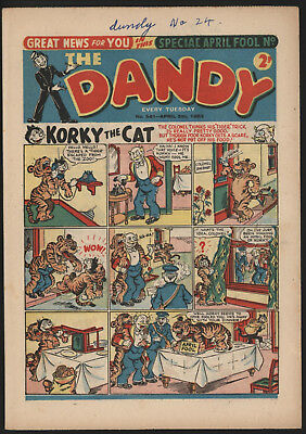 Dandy Comic #541,apr 5Th 1952, Really Nice Condition