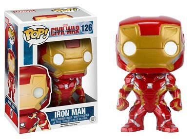 Funko Pop Marvel Captain America Civil War: Iron Man Vinyl Bobble Head #7224