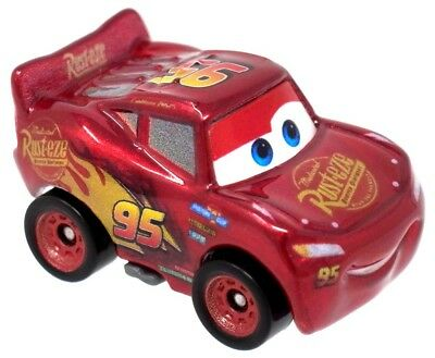 Disney Cars Die Cast Mini Racers Lightning McQueen Car [Metallic Version Loose]