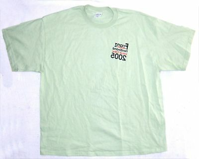 Franz Ferdinand! Local Crew 2005 Green T-Shirt Xl New