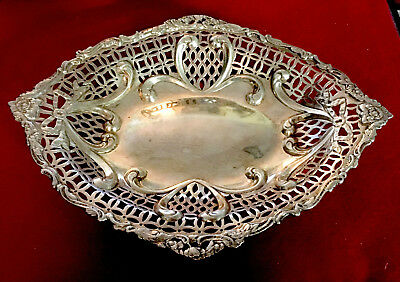 Black Starr & Frost Sterling Oval Reticulated Bowl 390g