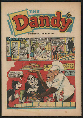 Dandy Comic #1420, Feb 8Th 1969, Really Nice Condition.