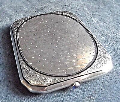 SUPERB Large ~ Arabic SOLID SILVER ~ ORNATE Engraved ~ CASE ~ c1920 ~ 133g