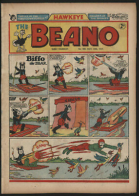 Beano #488, Nov 24Th 1951. Professionally Repaired Spine