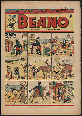 Beano #478, Sept 15Th 1951. Nice Condition, Reduced Price