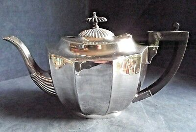 SUPERB Large ~ SILVER Plated ~ BULBOUS Fluted TEAPOT ~ c1920 by Frank Cobb