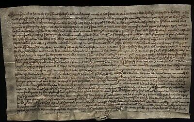 1550 CHESHIRE Edward VI, document Thomas Helsby to Randle Helsby land in Helsby