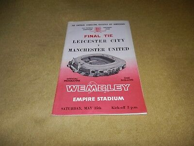 Leicester City v Manchester United - FA Cup Final in 1963 at Wembley