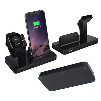 2in1 Charger Dock Stand Bracket For Apple Watch iWatch 1/2/3/4 iPhone XR XS Max