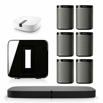 Sonos PLAYBASE Multi-Room Whole House Home Theater System w/ PLAY:1, SUB & BOOST