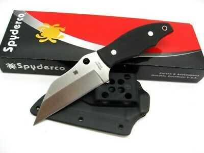 Spyderco FB09GP2 Black G-10 Fixed Ronin 2 Plain Edge Cts-Bd1 Knife + Sheath
