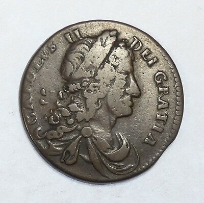 1683 IRELAND Armstrong & Legg Issue Half Penny VERY FINE