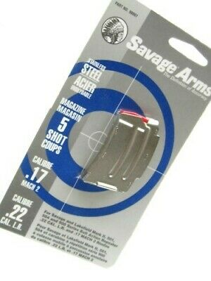 Savage 90007 Stainless Steel 5 Round MAG Magazine For 22 LR Ruger Mark II