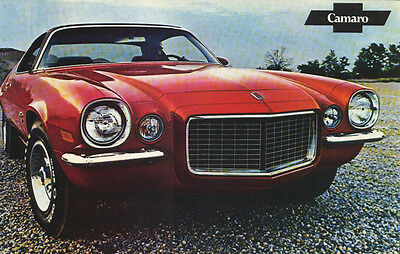 """Vintage 1971 Camaro SS396 Z/28 Factory Issued Sales Brochure (POSTER) 11""""x18"""""""