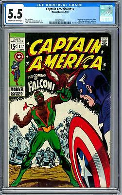 Captain America #117 CGC 5.5 (OW-W) Origin & 1st Appearance of the Falcon