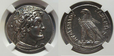 AR tetradrachm Ptolemy VI, Alexandria 180-145 B.C. -- sharply struck, beautiful