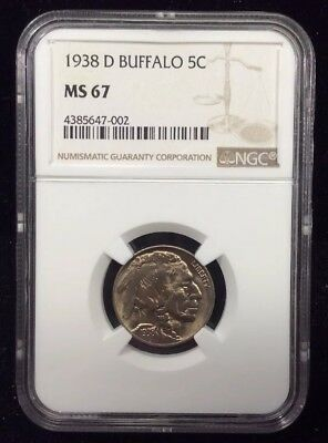 1938-D NGC Buffalo Nickel NGC MS 67 Gorgeous Coin