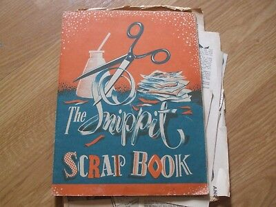 VINTAGE SCRAP BOOK Elvis rock n roll Cliff Love Tommy 1950's 1960's EPHEMERA