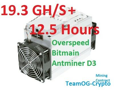 **SALE** 12.5 Hours X11 Antminer 19.3 GH/s+ UK Mining Contract Dash Futurocoin