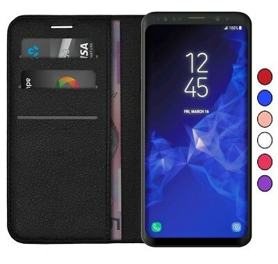 New Samsung Note 9/S8/S9 + Luxury Magnetic Flip Leather Wallet Stand Case Cover