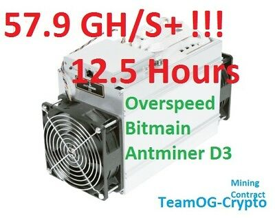 **SALE** 12.5 Hours X11 Antminer 57.9 GH/s+!! UK Mining Contract Dash Futurocoin