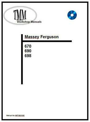 Agriculture/farming Massey Ferguson Massey 168 Workshop Manual Reprint 1856000m1