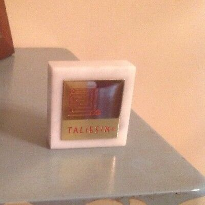 "Frank Lloyd Wright Marble 'taliesin' Paperweight 2"" Square Mint"