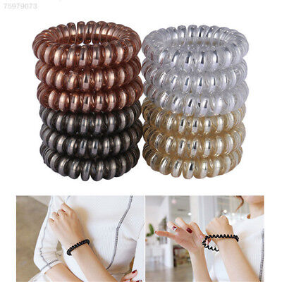 12pcs Simple Women Girl Elastic Rubber Hairband Hair Ties Spiral Rubber Rope New